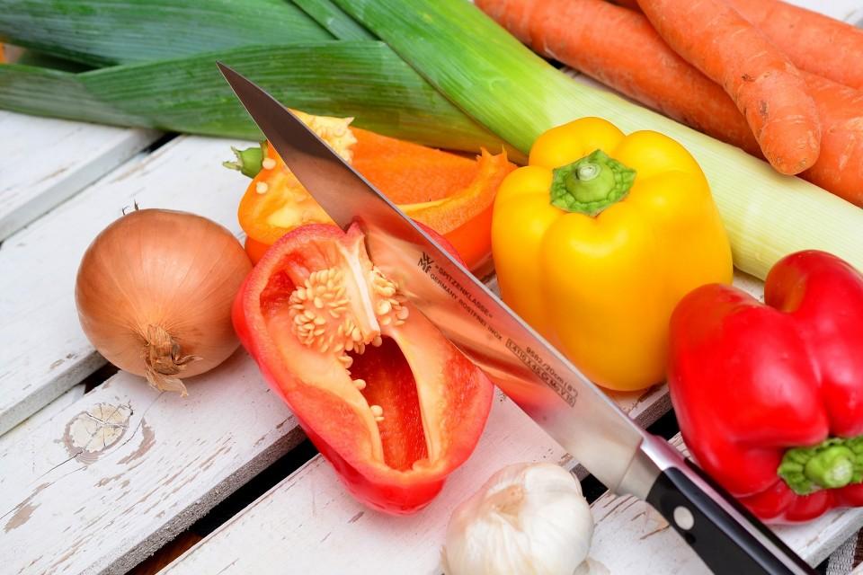 Viel Gemüse als Snack